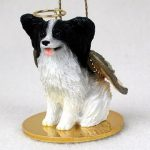 Papillon-Dog-Figurine-Angel-Statue-Black-White-400250978931