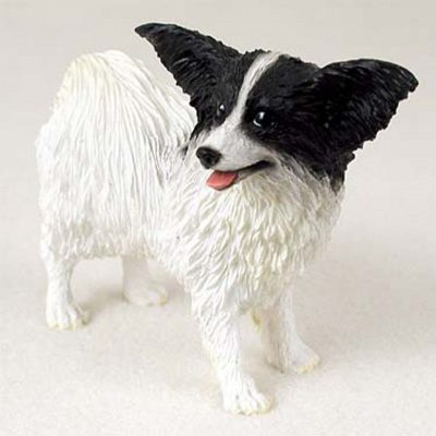 Papillon-Hand-Painted-Collectible-Dog-Figurine-Statue-Black-400263319784