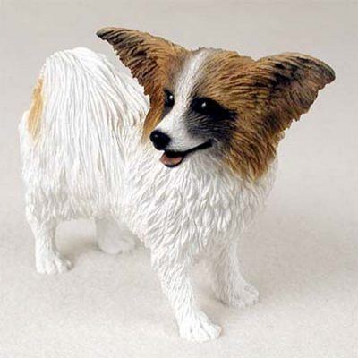 Papillon-Hand-Painted-Dog-Figurine-Statue-Brown-400201747994