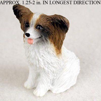 Papillon-Mini-Resin-Hand-Painted-Dog-Figurine-BrownWhite-400482587663