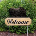 Pekingese-Dog-Breed-Oak-Wood-Welcome-Outdoor-Yard-Sign-Black-400706808420