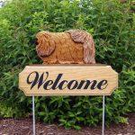 Pekingese-Dog-Breed-Oak-Wood-Welcome-Outdoor-Yard-Sign-Sable-181404201090