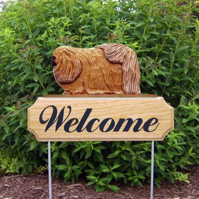 Pekingese-Dog-Breed-Oak-Wood-Welcome-Outdoor-Yard-Sign-Sable-181404201090