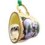 Pekingese-Dog-Christmas-Holiday-Teacup-Ornament-Figurine-400608360445
