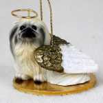 Pekingese-Dog-Figurine-Ornament-Angel-Statue-Hand-Painted-400269274755