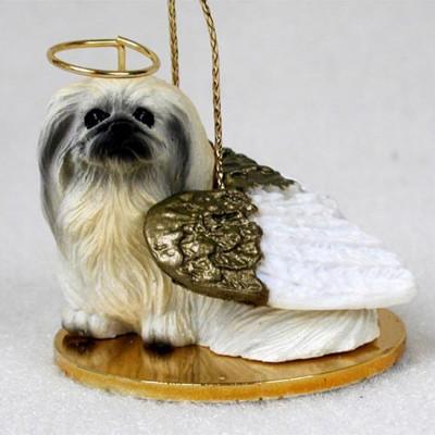 Pekingese-Dog-Figurine-Ornament-Angel-Statue-Hand-Painted-400269274755
