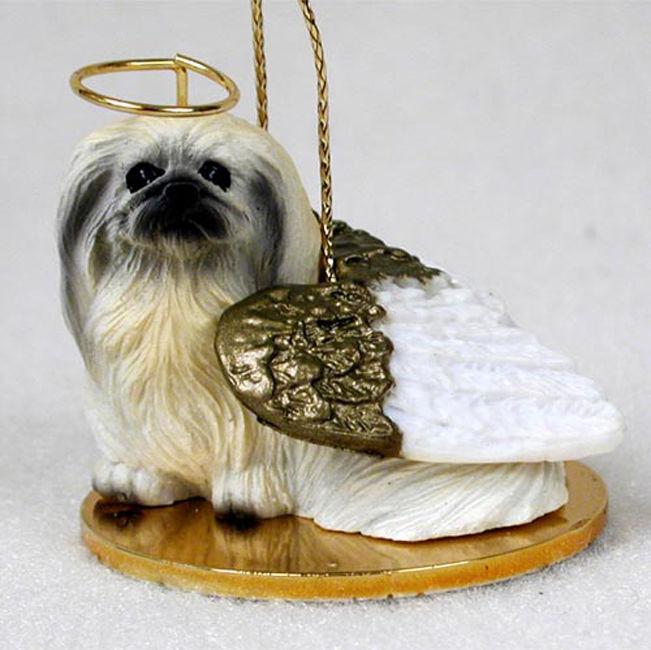 pekingese ornament angel figurine hand painted