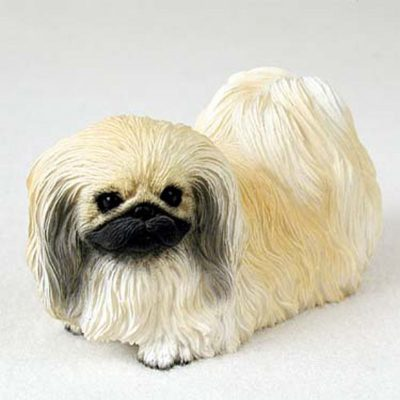 Pekingese-Hand-Painted-Collectible-Dog-Figurine-Statue-180826758528