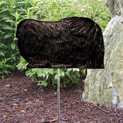 Pekingese-Outdoor-Garden-Dog-Sign-Hand-Painted-Figure-Black-181369674821