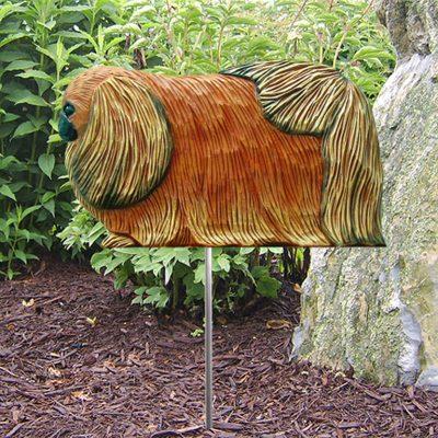 Pekingese-Outdoor-Garden-Dog-Sign-Hand-Painted-Figure-Red-400688313038