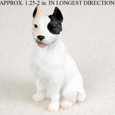 Pit-Bull-Mini-Resin-Dog-Figurine-Statue-Hand-Painted-White-180644349765