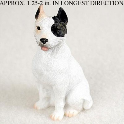 Pit-Bull-Mini-Resin-Dog-Figurine-Statue-Hand-Painted-White-180644349765