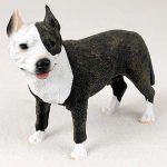 Pitbull-Hand-Painted-Collectible-Dog-Figurine-Brindle-180675493821