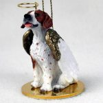 Pointer-Dog-Figurine-Angel-Statue-Brown-White-400250979397