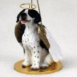 Pointer-Dog-Figurine-Angel-Statue-Hand-Painted-BlackWhite-181337620893