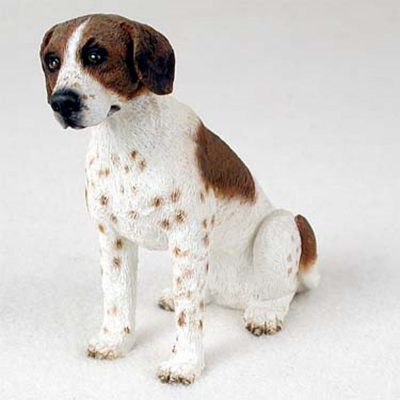 Pointer-Hand-Painted-Collectible-Dog-Figurine-BrownWhi-180689145431