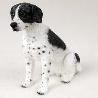 Pointer-Hand-Painted-Dog-Figurine-Statue-Black-White-400480010516
