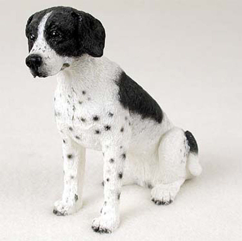 Pointer Hand Painted Dog Figurine Statue Black Amp White Ebay