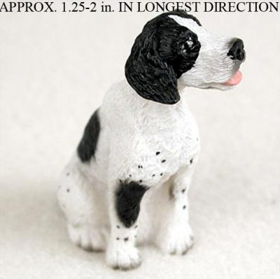 Pointer Mini Hand Painted Figurine Blk Wht