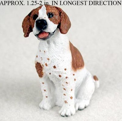 Pointer-Mini-Resin-Hand-Painted-Dog-Figurine-Statue-BrownWht-180738575705