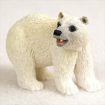 Polar-Bear-Mini-Resin-Hand-Painted-Wildlife-Animal-Figurine-400592492827