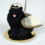 Pomeranian-Dog-Figurine-Angel-Statue-Black-400201488807