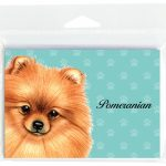 Pomeranian-Dog-Note-Cards-Set-of-8-with-Envelopes-Red-181382996702
