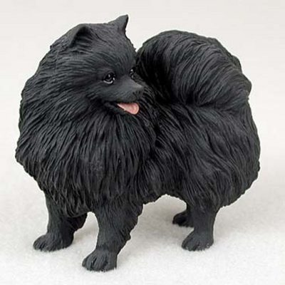 Pomeranian-Hand-Painted-Collectible-Dog-Figurine-Black-180838966535