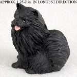 Pomeranian-Mini-Resin-Hand-Painted-Dog-Figurine-Statue-Black-181136206250