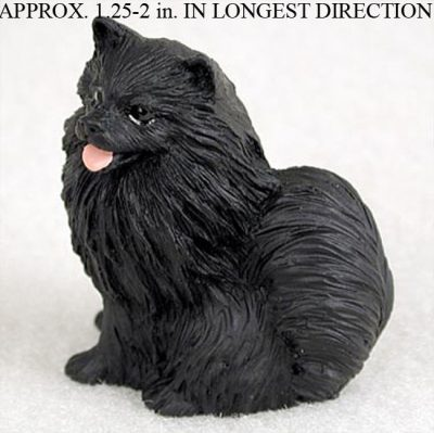 Pomeranian-Mini-Resin-Hand-Painted-Dog-Figurine-Statue-Black-181136206250