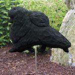 Pomeranian-Outdoor-Garden-Dog-Sign-Hand-Painted-Figure-Black-181369676119