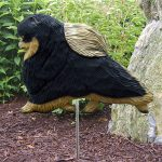 Pomeranian-Outdoor-Garden-Dog-Sign-Hand-Painted-Figure-Black-Tan-400688313488