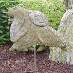Pomeranian-Outdoor-Garden-Dog-Sign-Hand-Painted-Figure-Cream-181369677355