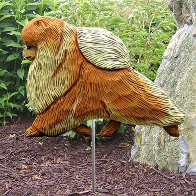 Pomeranian-Outdoor-Garden-Dog-Sign-Hand-Painted-Figure-Orange-400688313746