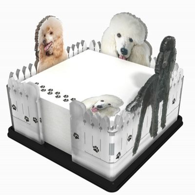 Poodle-Dog-Breed-Acrylic-Note-Holder-Memo-Note-Pad-Made-in-USA-180933043326