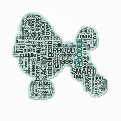 Poodle-Dog-Breed-Cutout-Vinyl-Decal-Bumper-Sticker-Characteristic-Silhouette-400570918390