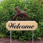 Poodle-Dog-Breed-Oak-Wood-Welcome-Outdoor-Yard-Sign-Brown-181404204136
