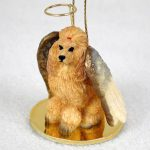 Poodle-Dog-Figurine-Angel-Statue-Apricot-180637637094