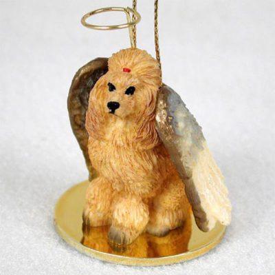 Poodle-Dog-Figurine-Angel-Statue-Apricot-180637637094