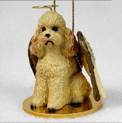 Poodle-Dog-Figurine-Angel-Statue-Apricot-Sportcut-181261056235
