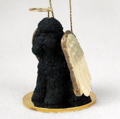 Poodle-Dog-Figurine-Angel-Statue-Black-Sportcut-400250979429