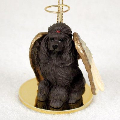 Poodle-Dog-Figurine-Angel-Statue-Chocolate-400201488842