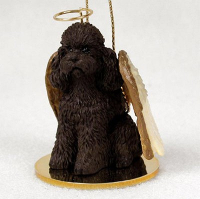 Poodle-Dog-Figurine-Angel-Statue-Chocolate-Sportcut-181136188688