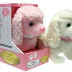 Poodle-Dog-Lifelike-Stuffed-Animal-Barking-Walking-Wagging-Electronic-Toy-400647525431