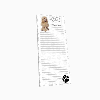 Poodle-Dog-Magnetic-Refrigerator-List-Note-Pad-Paper-181235661180