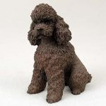 Poodle-Hand-Painted-Collectible-Dog-Figurine-Chocolate-400220206473