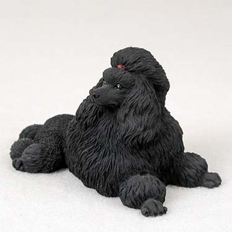 Poodle Hand Painted Collectible Dog Figurine Statue Black