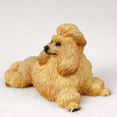 Poodle-Hand-Painted-Dog-Figurine-Statue-Apricot-400670678392