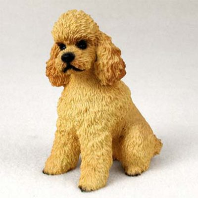 Poodle-Hand-Painted-Dog-Figurine-Statue-Apricot-Sport-180638149962