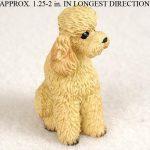 Poodle-Mini-Resin-Dog-Figurine-Apricot-Sport-Cut-180644349801